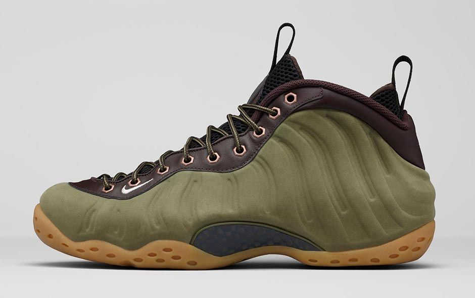 Here's the 'Olive' Nike Air Foamposite One, Officially