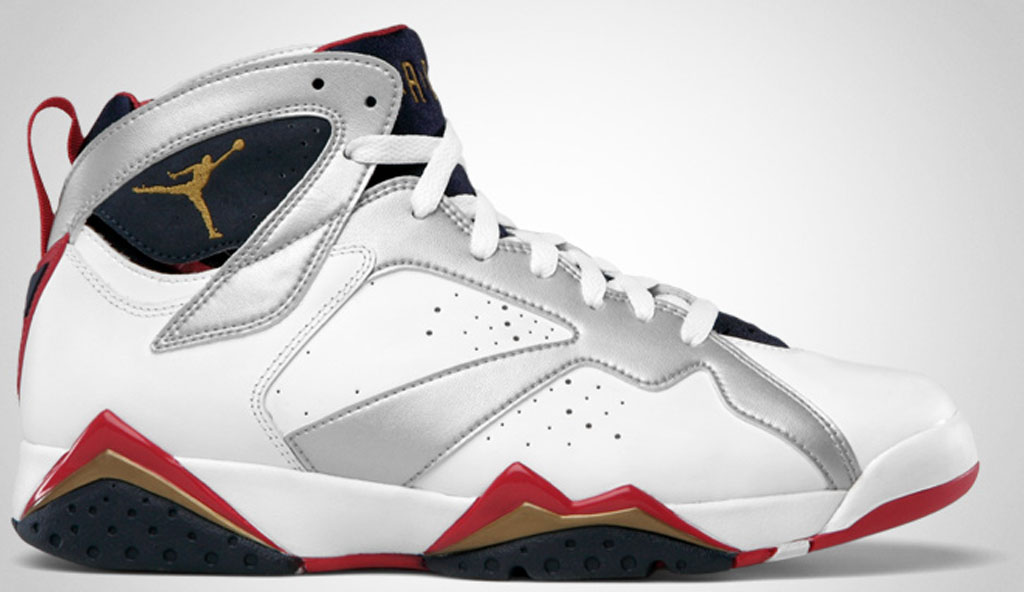 big sale d857d 75a87 Air Jordan 7 Retro  Olympic . Colorway  White Metallic Gold-True  Red-Midnight Navy Release Date  07 21 2012. Original Price   150