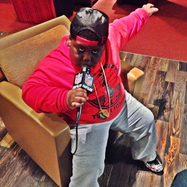 TerRio wearing Nike LeBron 11 Graffiti