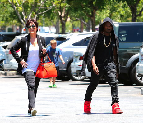 Kanye West Wears All-Red Nike Air Yeezy 2 (1)