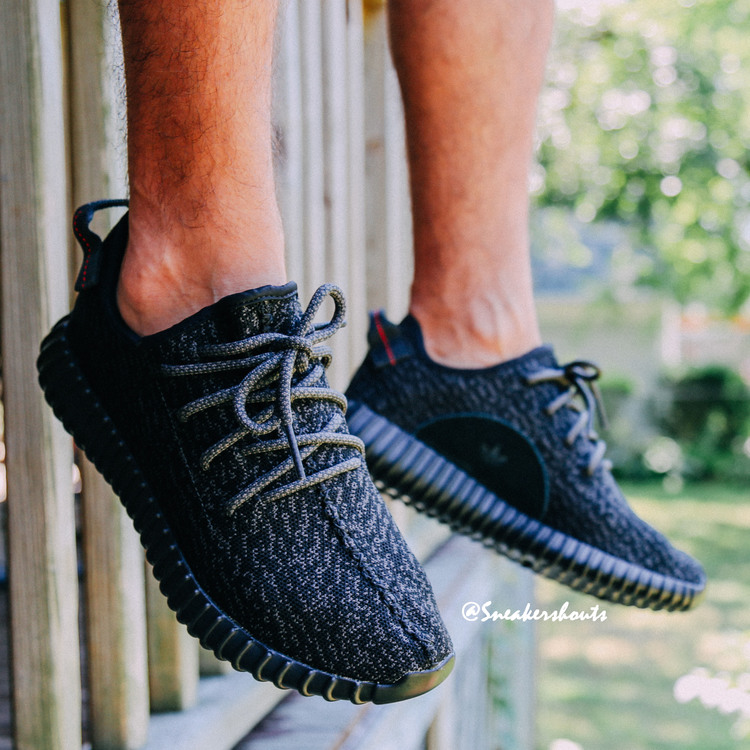 42e8bd2bcb535f Here's How the 'Black' adidas Yeezy 350 Boost Looks On-Foot | Sole ...
