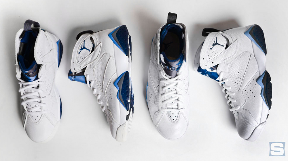 2728b28af82 How the 2015 'French Blue' Air Jordan 7 Compares to the Original ...