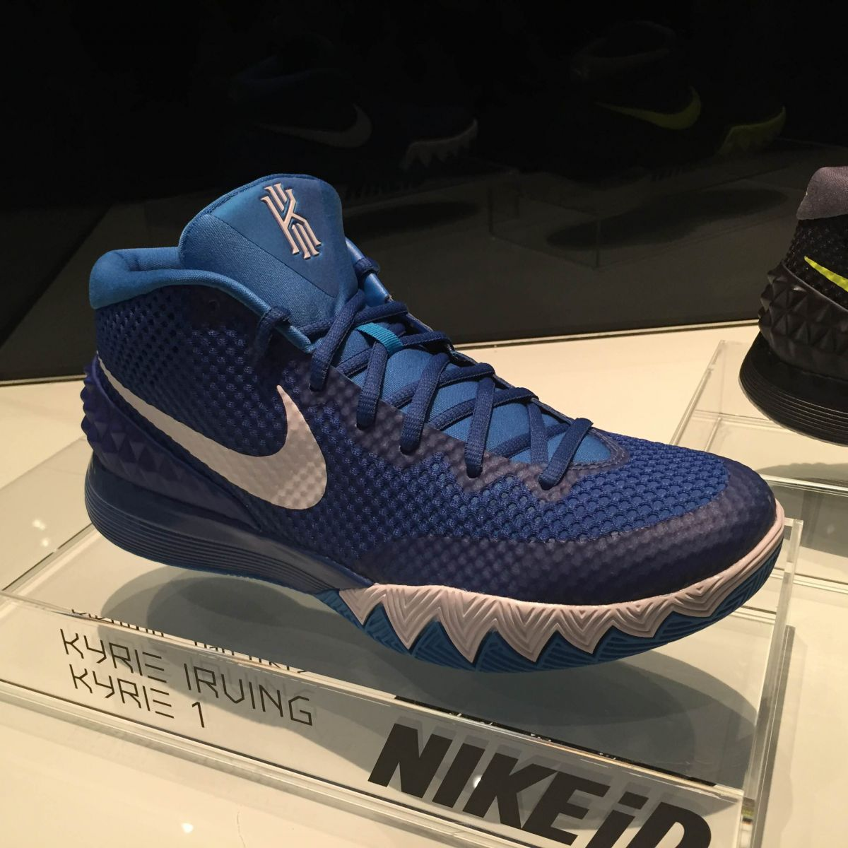 blue and black barkleys kyrie irving sneakers