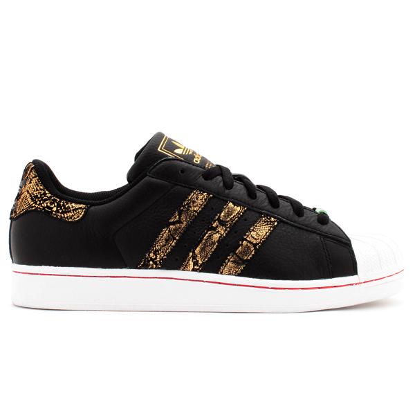 adidas original superstar black and gold