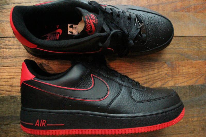 Air Force Shoes Black And Red