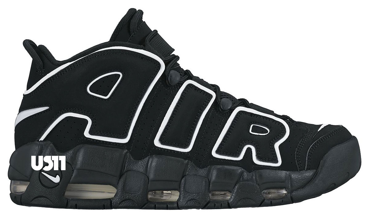 Nike Air More Uptempo Black/White 2016 Release Date