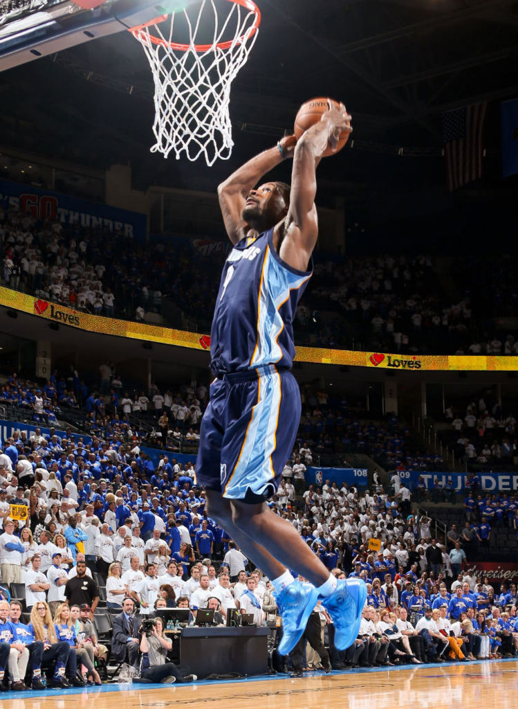 Tony Allen wearing adidas Rose 3.5 Triple Blue