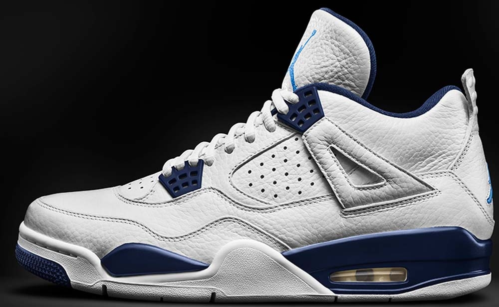 Air Jordan 4 Retro LS White/Legend Blue-Midnight Navy