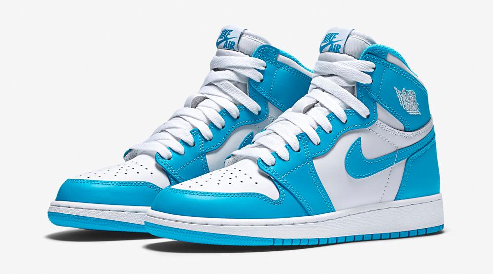 Air Jordan 1 GS White Blue