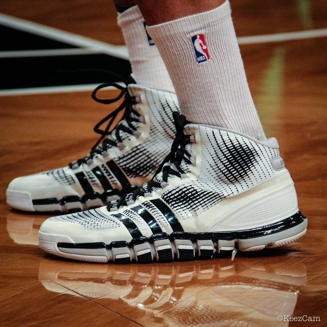 SoleWatch // Up Close At Barclays for Nets vs Clippers - Brook Lopez wearing adidas Crazyquick
