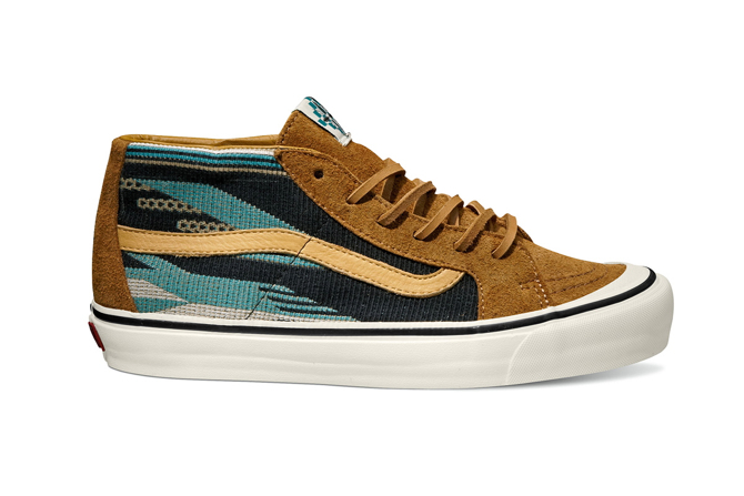 Vans Vault x Taka Hayashi Sk8 Mid LX Chimayo in Golden Brown 2b9ed88167