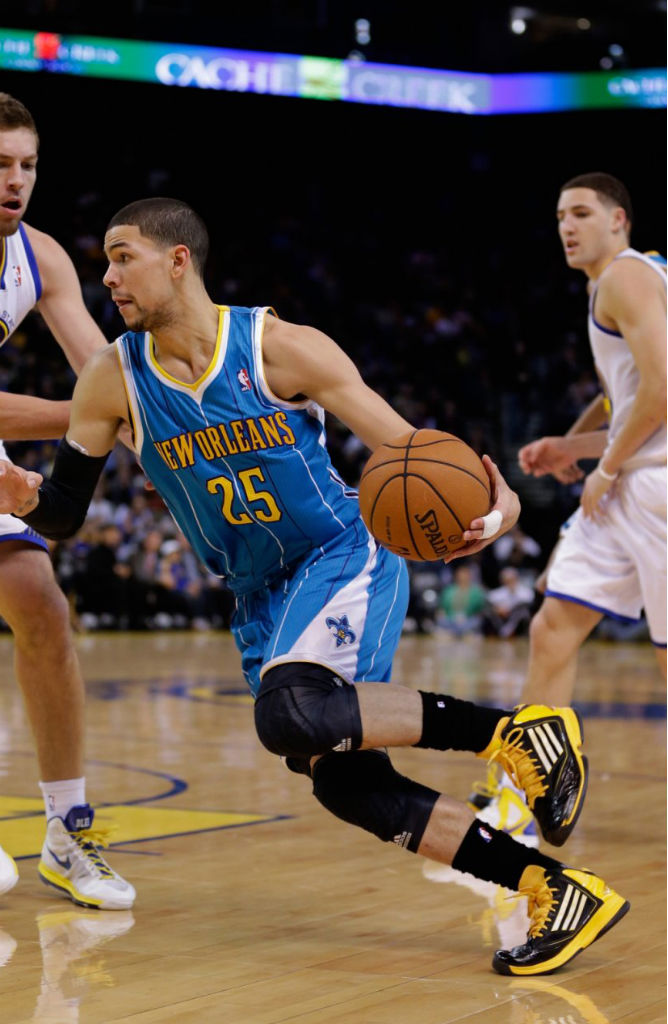 Austin Rivers wearing adidas adizero Ghost 2 Black Yellow