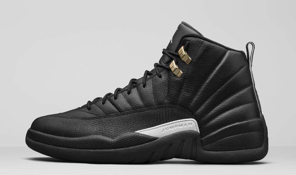 Mens Air Jordan Retro 12 Black Point shoes