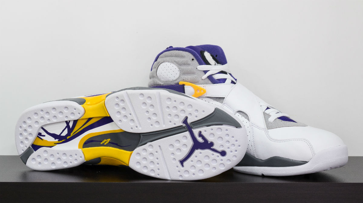 Air Jordan 8 Kobe Bryant Lakers PE White (2)