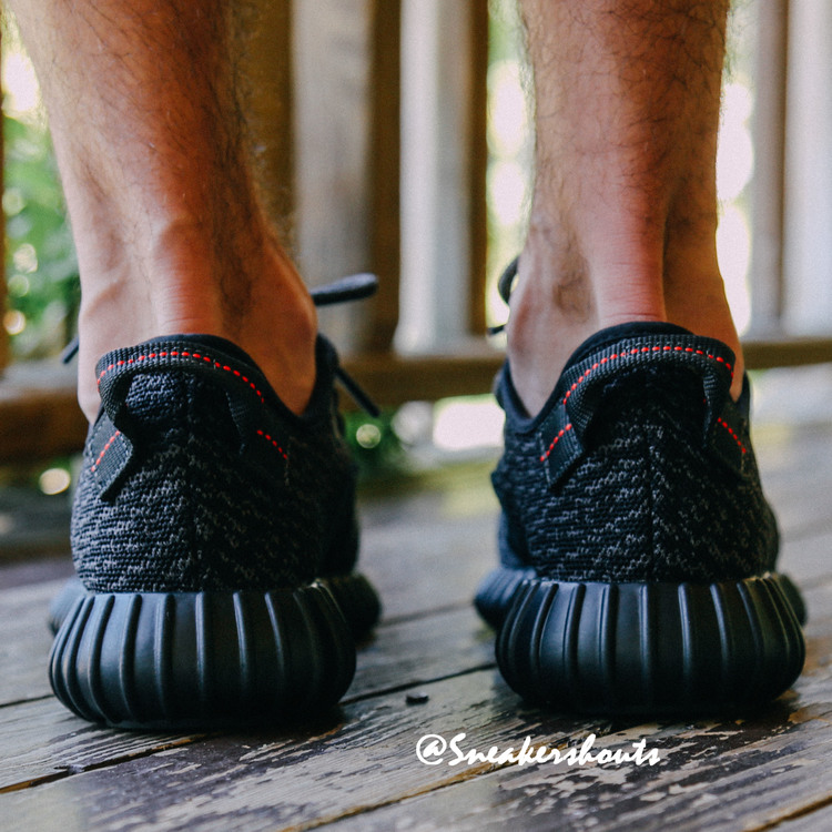 adidas yeezy 350 boost pirate black real one vs fake one