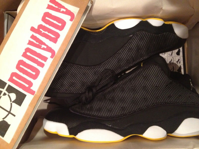 Spotlight // Pickups of the Week 12.8.12 - Air Jordan Retro XIII 13 Low Black Varsity Maize by ponyboy