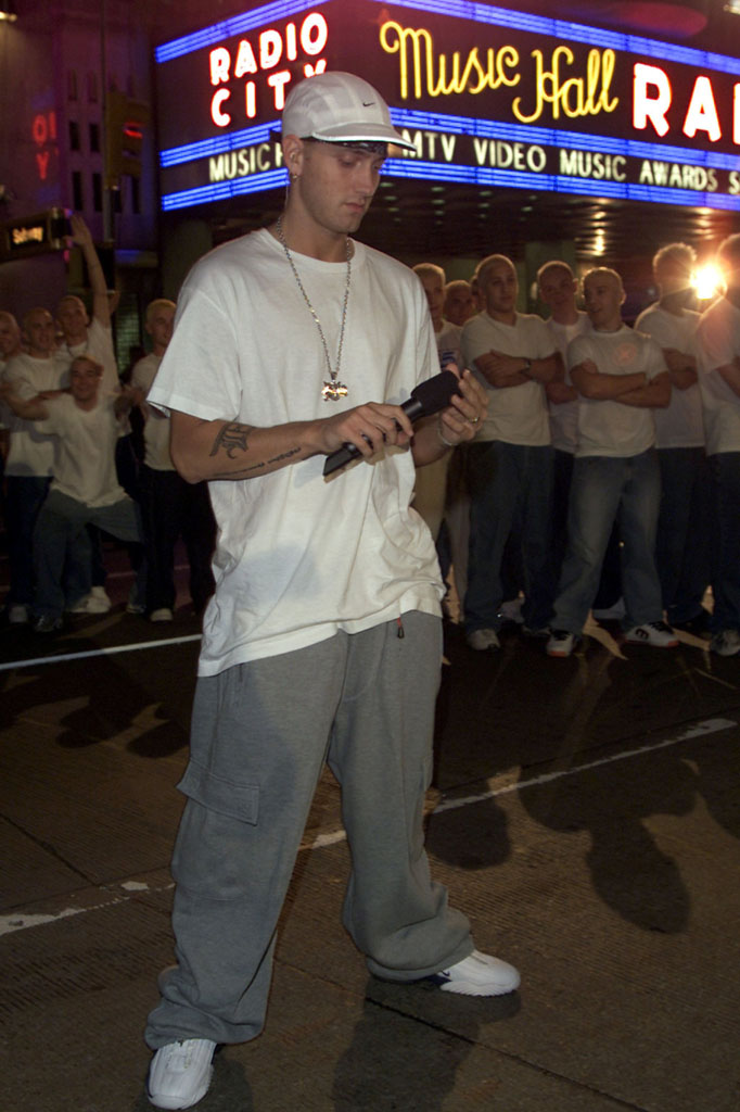 Eminem wearing Nike Air Penny IV 4