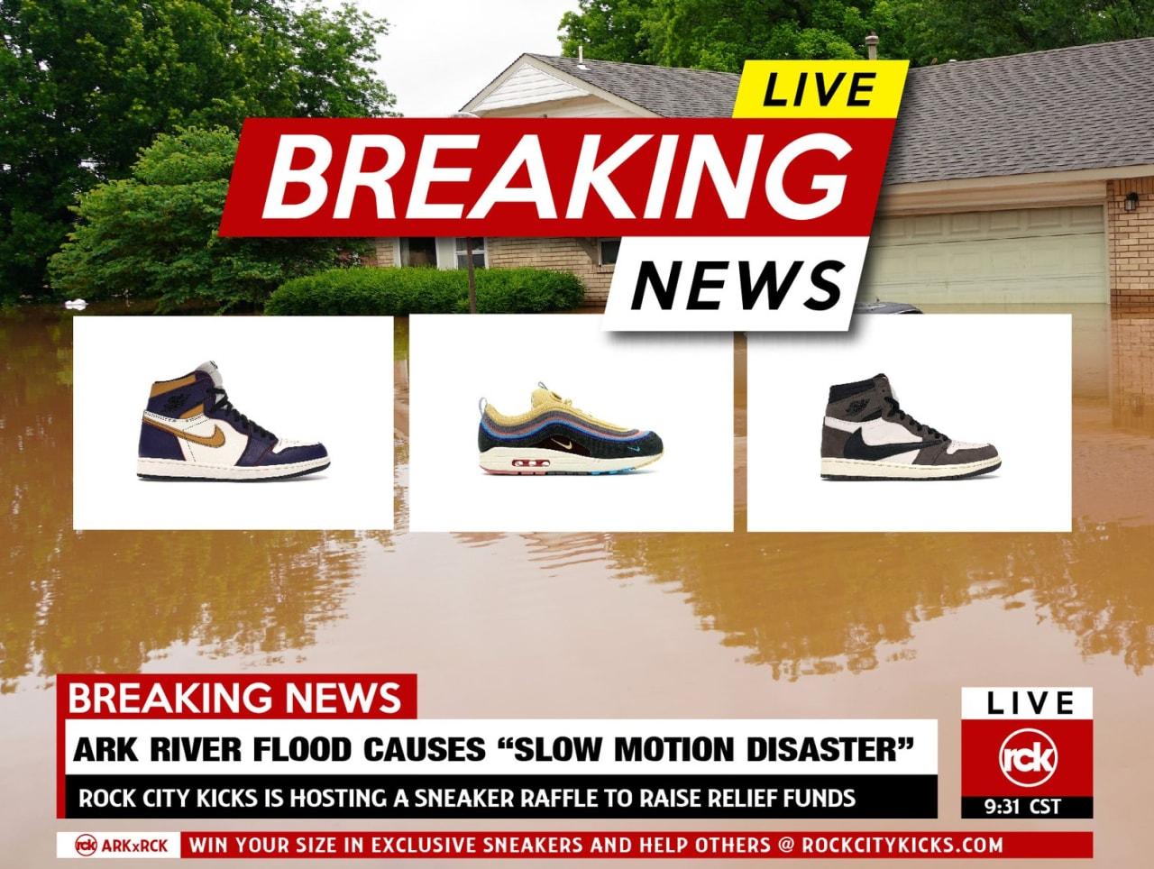 Arkansas Flood Relief Sneaker Raffle
