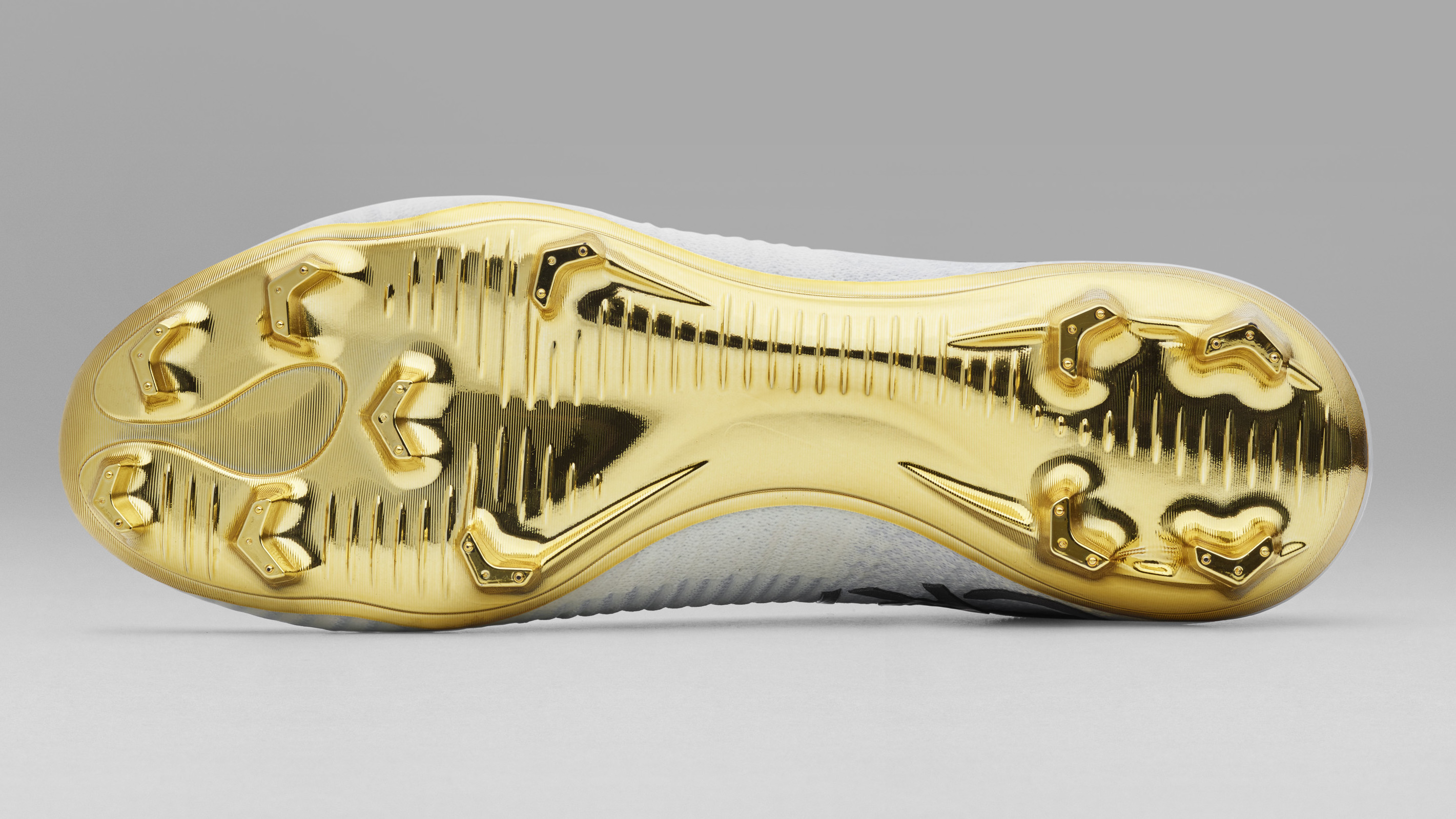 ronaldo new cleats gold white