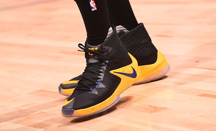 Draymond Green Wearing the Nike Zoom Clear Out Warriors Away PE On-Foot