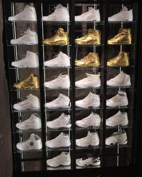jordan shoes 1 30. jordan bastille air jordans 1-30 display shoes 1 30