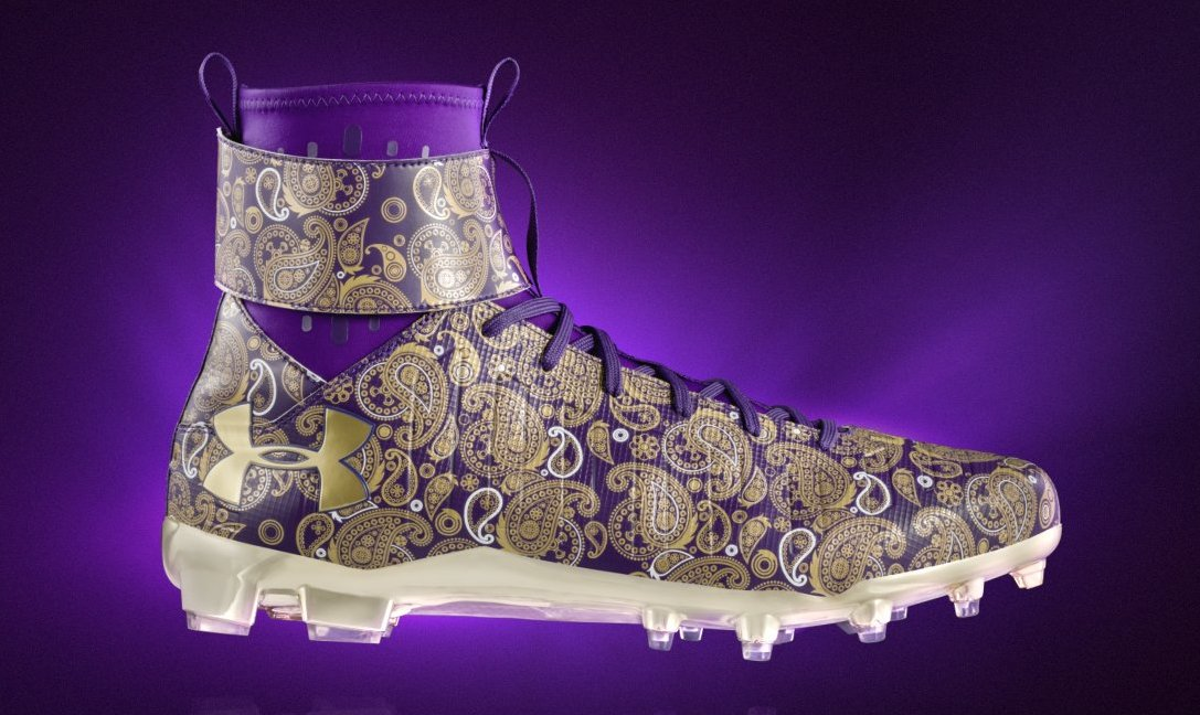 Cam Newton Prince Cleats Side