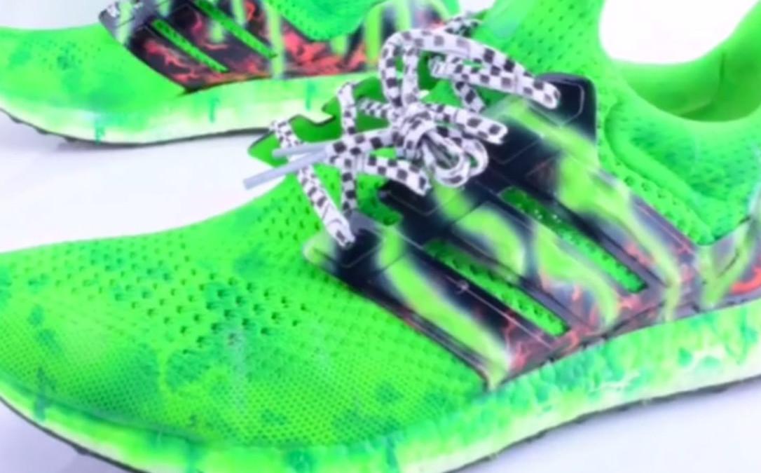 Von Miller adidas Ultra Boost Slime Custom