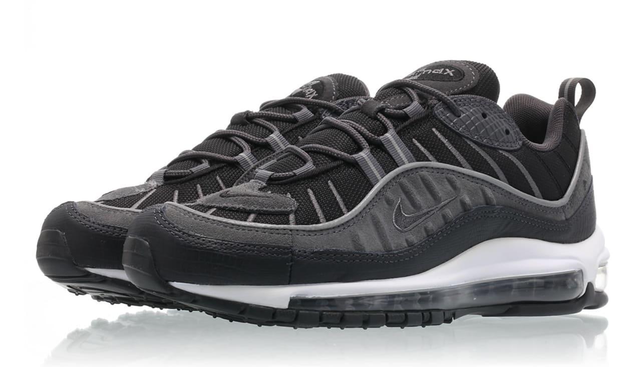 Nike Air Max 98 Black/Anthracite-Dark Grey-White AO9390-001 ...