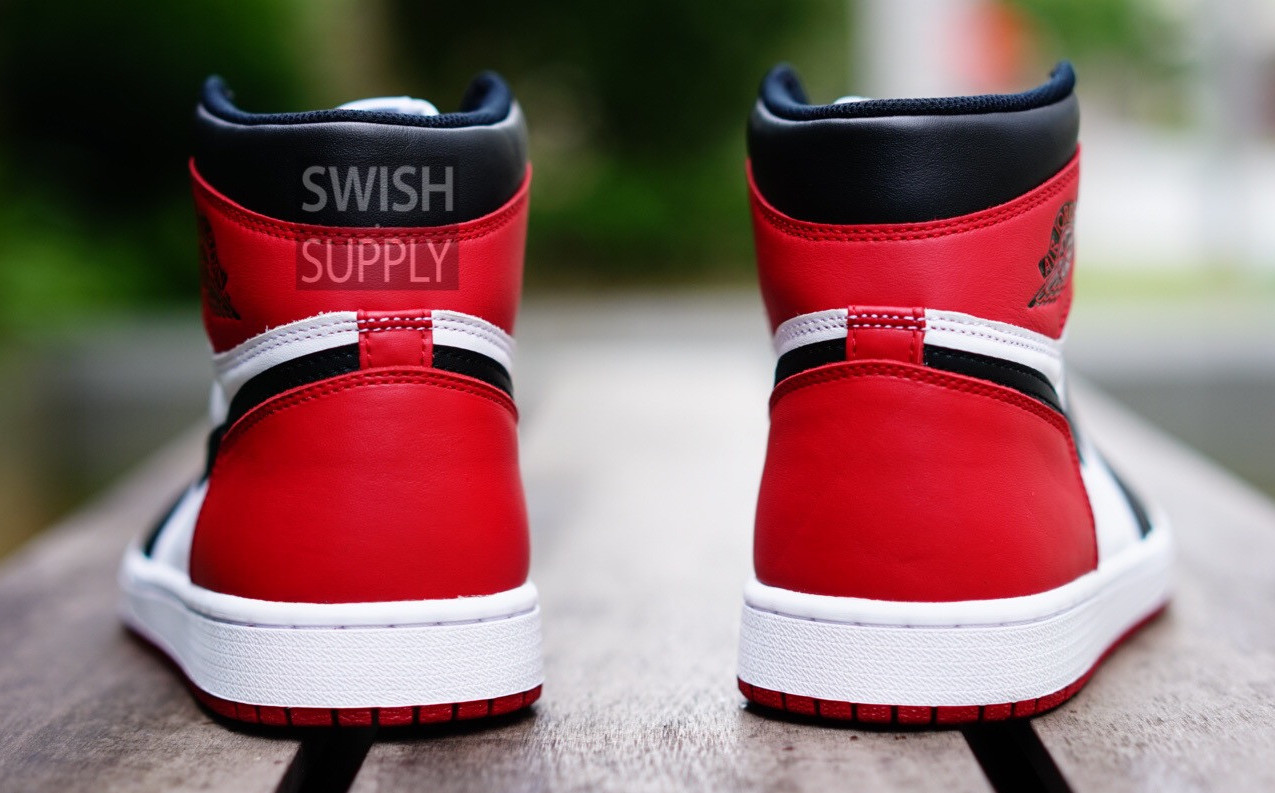 save off 232ad 2cdcf Air Jordan 1 Black Toe 2016 Heel 555088-125