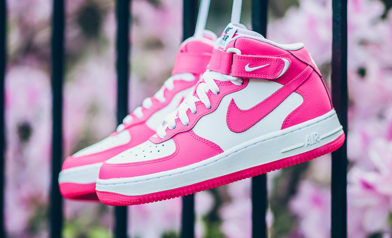 Nike PinkSole Force Air 1 Collector Mid White e9bEDIYWH2