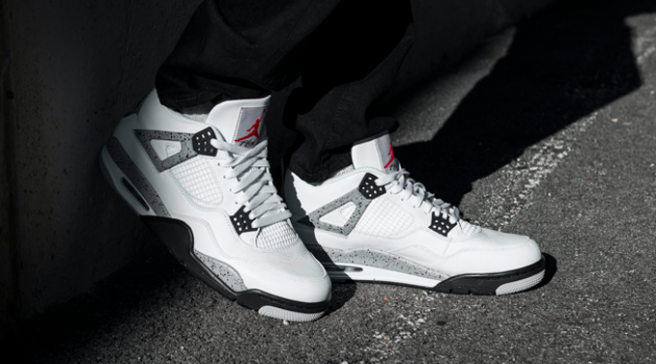 b43f1e8fa333c6 Retro Jordan Whitecement 4 Collector Air Sole 4fSBx4 in intro ...