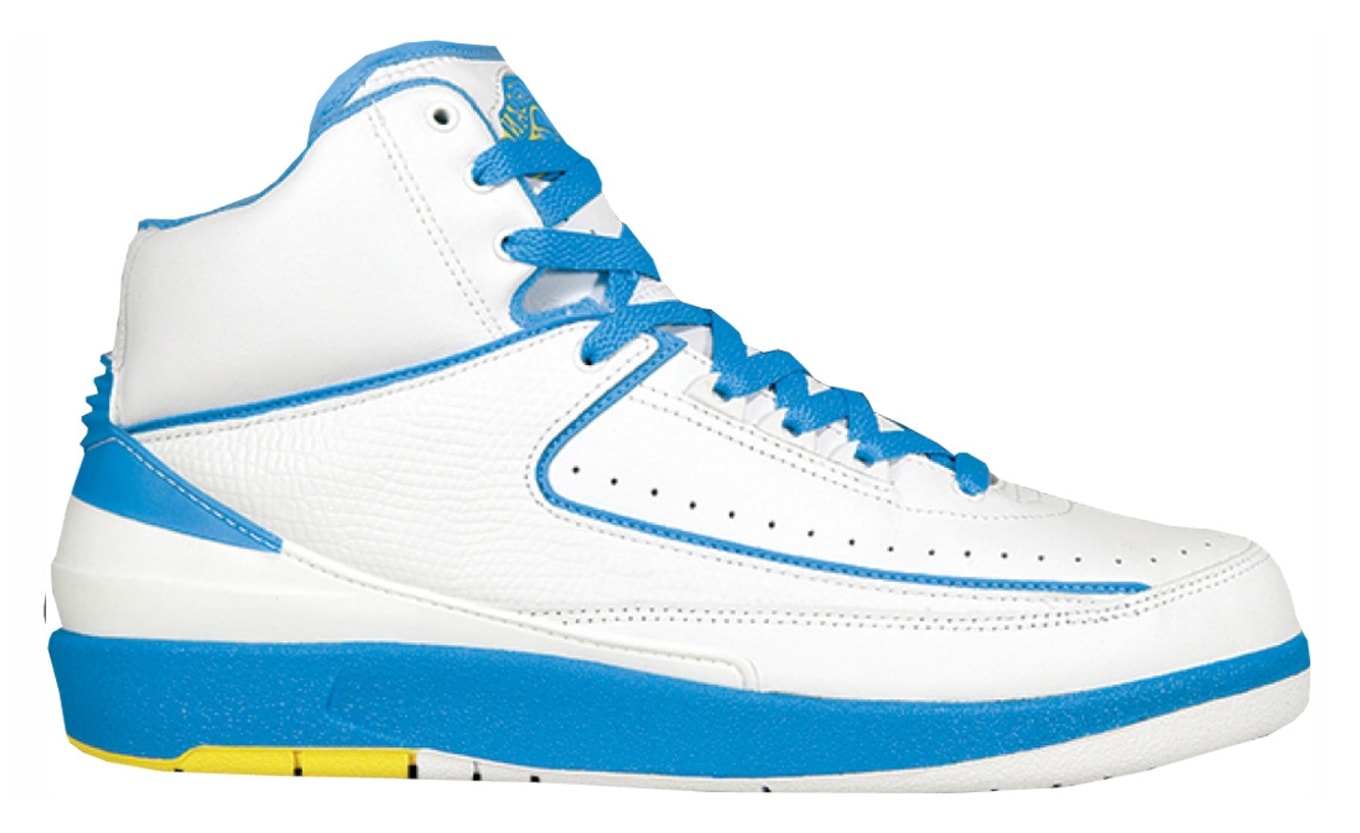 new concept c08fb 56447 Air Jordan 2 Retro Melo Price Guide · Air Jordan 2 (II). Colorway  White University  Blue-Varsity Maize Release Date  ...