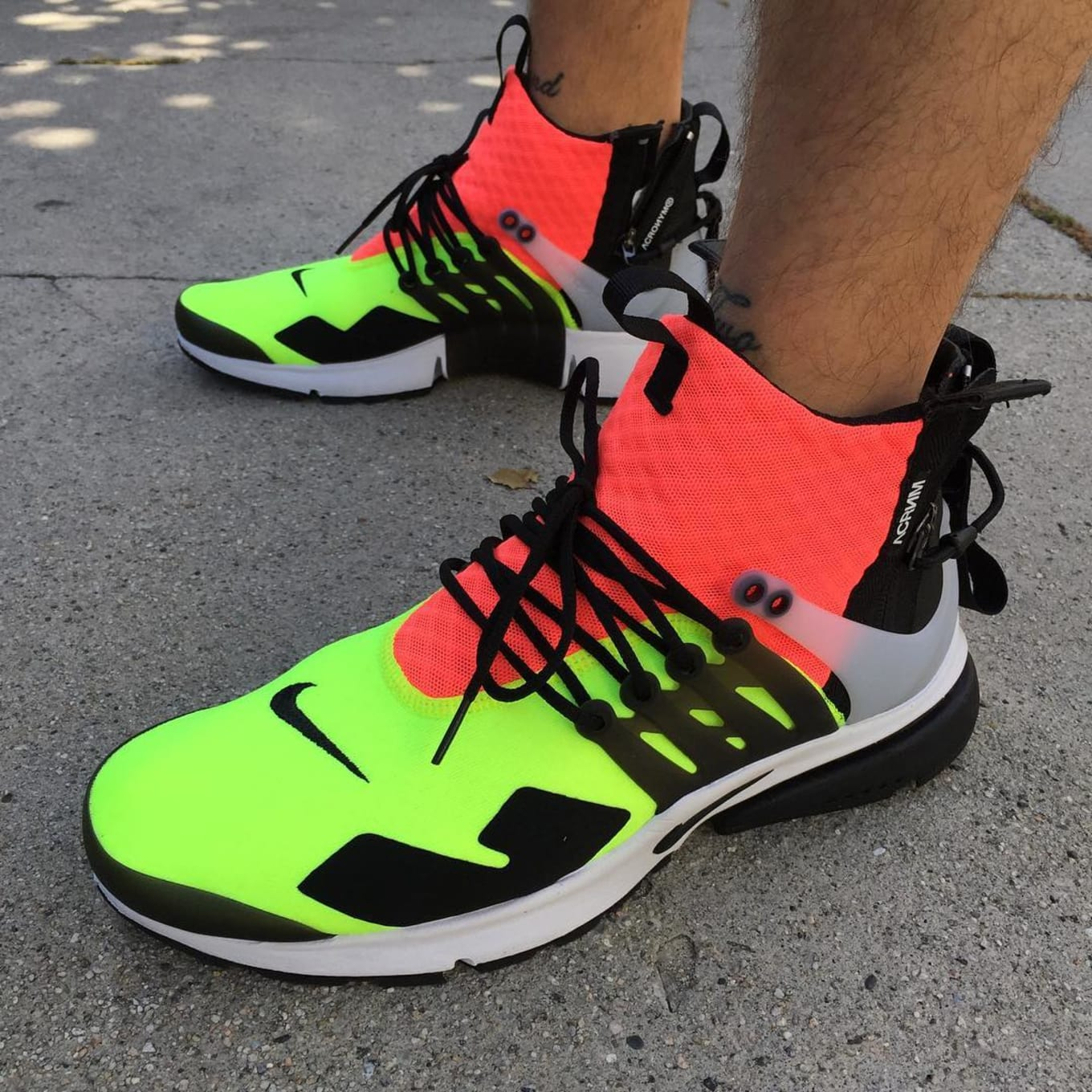 detailed look 854ab 29637 ACRONYM x Nike Air Presto On-Foot