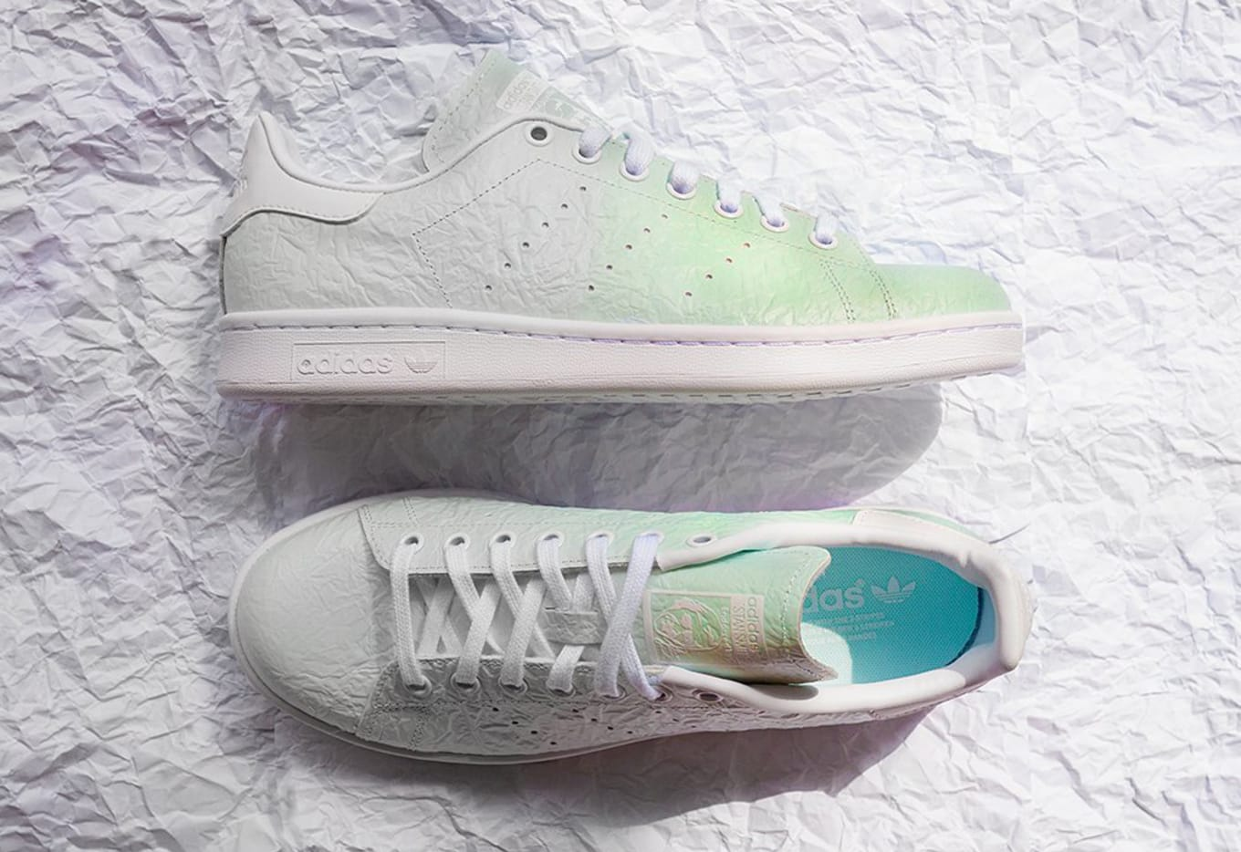 3092b693e5f24 These Adidas Change Colors. A Stan Smith release with UV-activated leather.