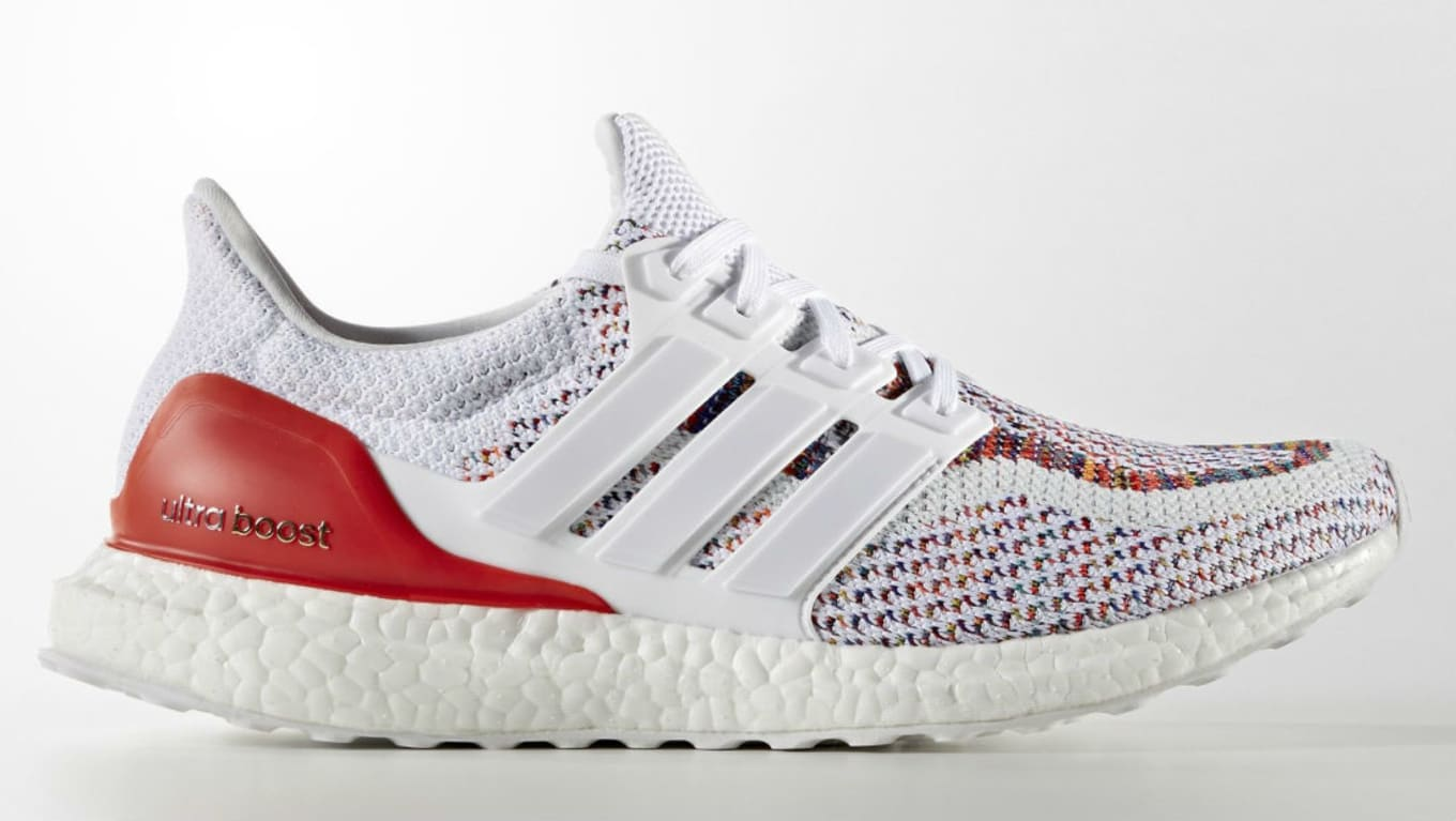 release info on really comfortable on wholesale adidas Ultra Boost Multicolor White/Red | Sole Collector