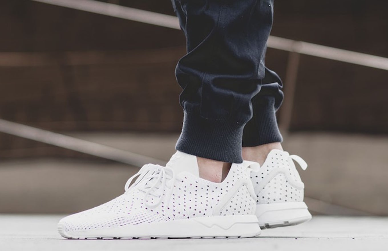 check out e618b 2a7a3 adidas ZX Flux ADV ASYM Primeknit Crystal White | Sole Collector
