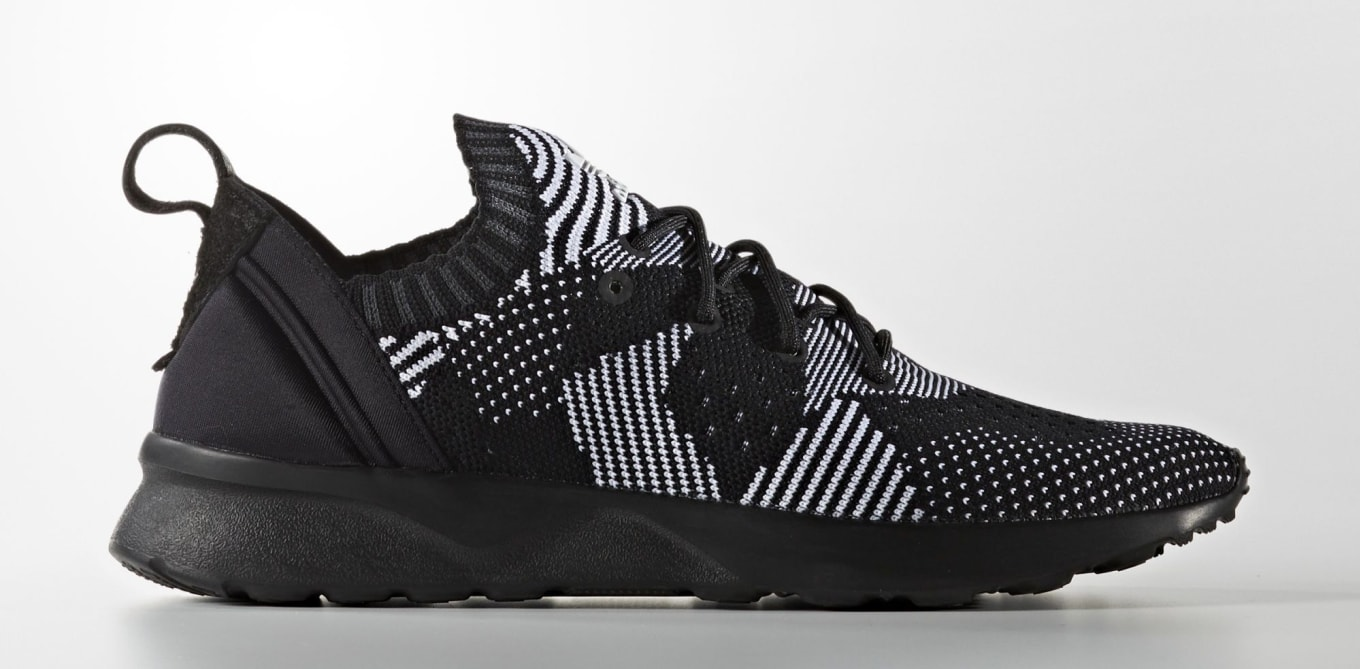6dde65e8d ZX Flux ADV Virtues rock an erratic Primeknit pattern.