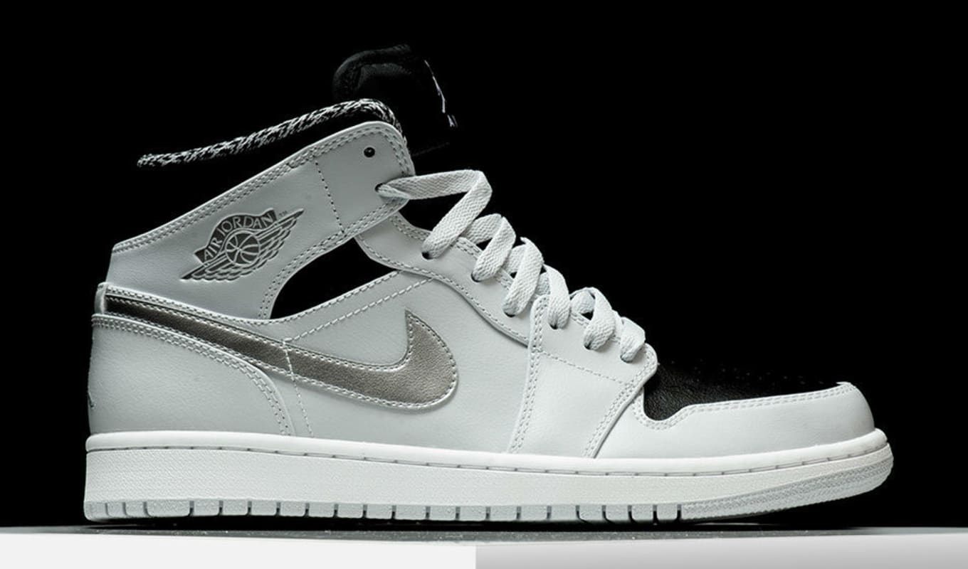 wholesale dealer 5c545 c3d7c Air Jordan 1 Mid Pure Platinum 554724-032 (1)