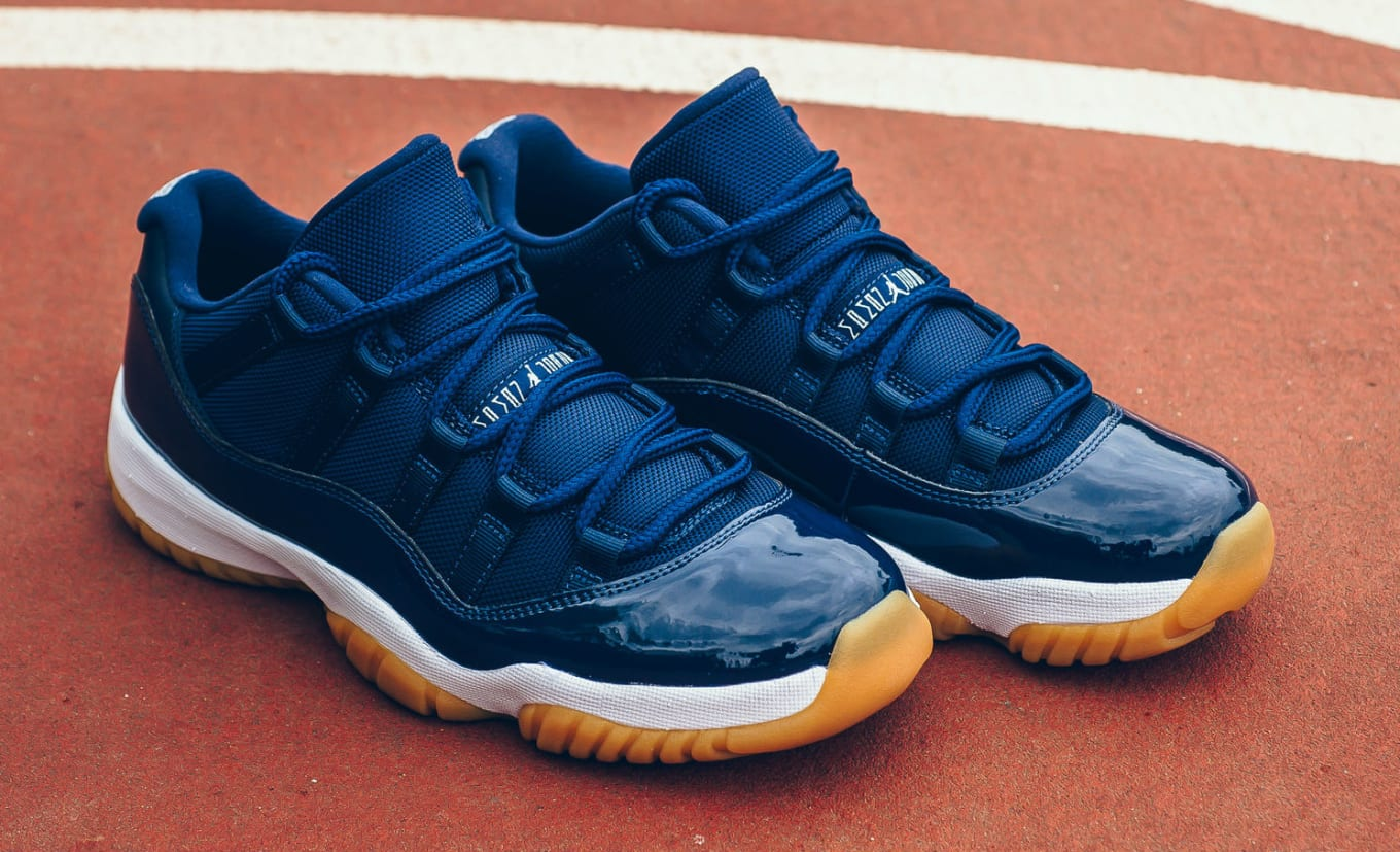 397588520244 Air Jordan 11 Low Navy 528895-405 (1)