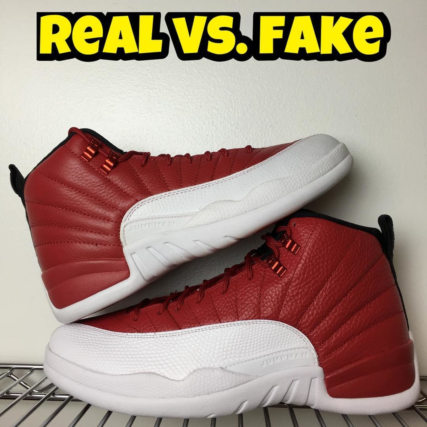buy popular 3ecac ae5f3 Air Jordan XII 12 Gym Red Real Fake Legit Check