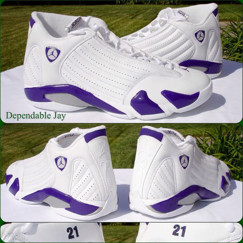 pretty nice 1ddc4 3e1ca Bobby Simmons Air Jordan 14 Purple Bucks PE | Sole Collector