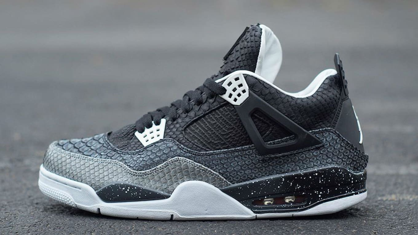 b8b228c97eee82 Fear Air Jordan IV 4 Snakeskin Custom