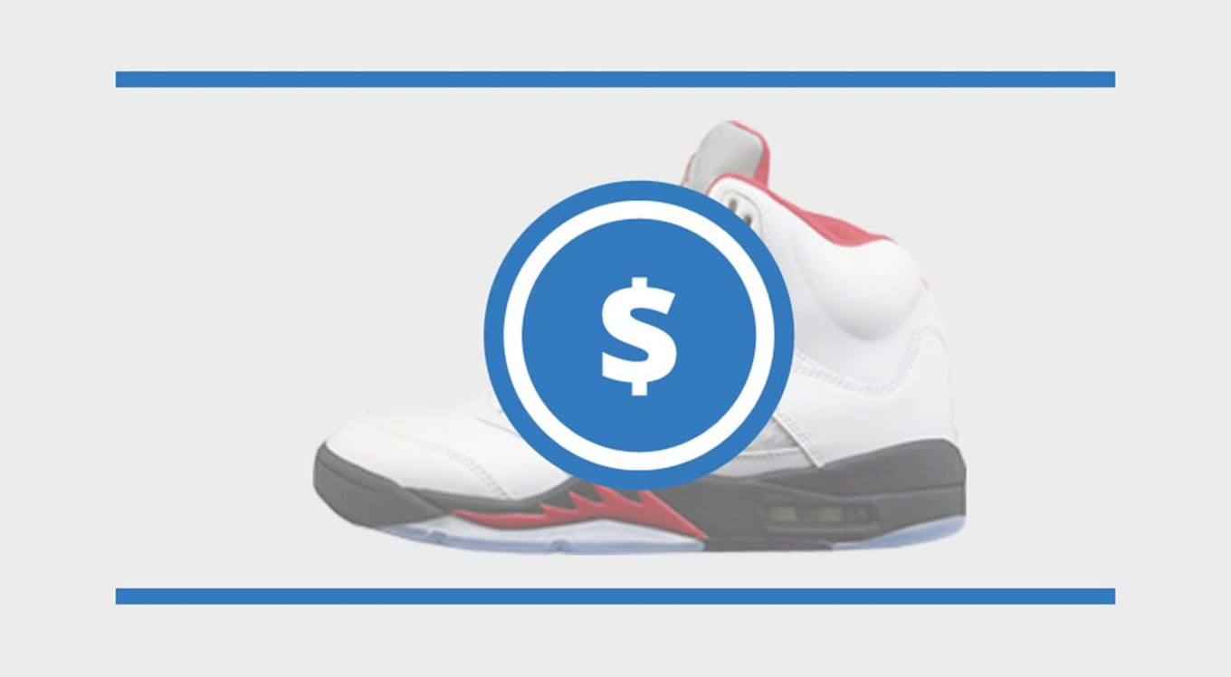 c8b534da9405 Check out the current resale prices for the Air Jordan 5.