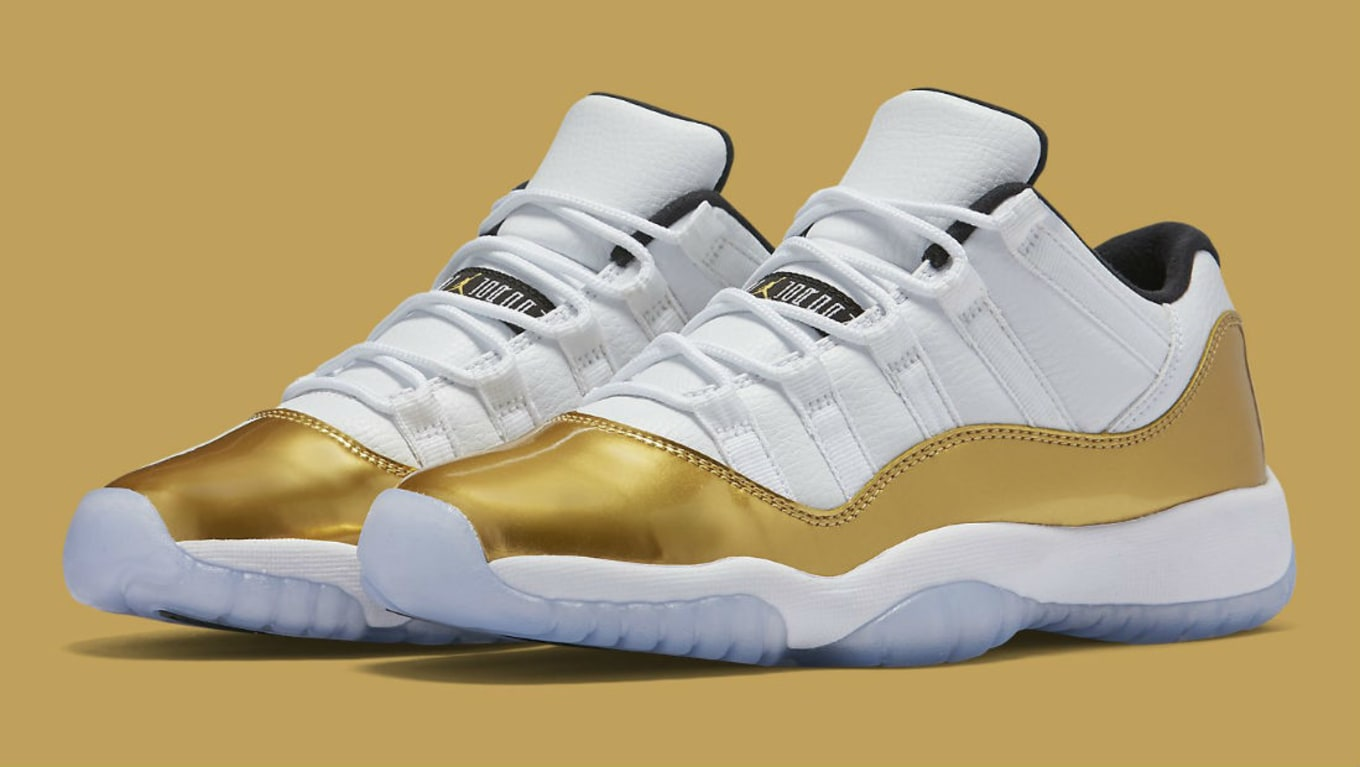 fad16194145 Air Jordan 11 Low Gold Summer 2016 Release (1)