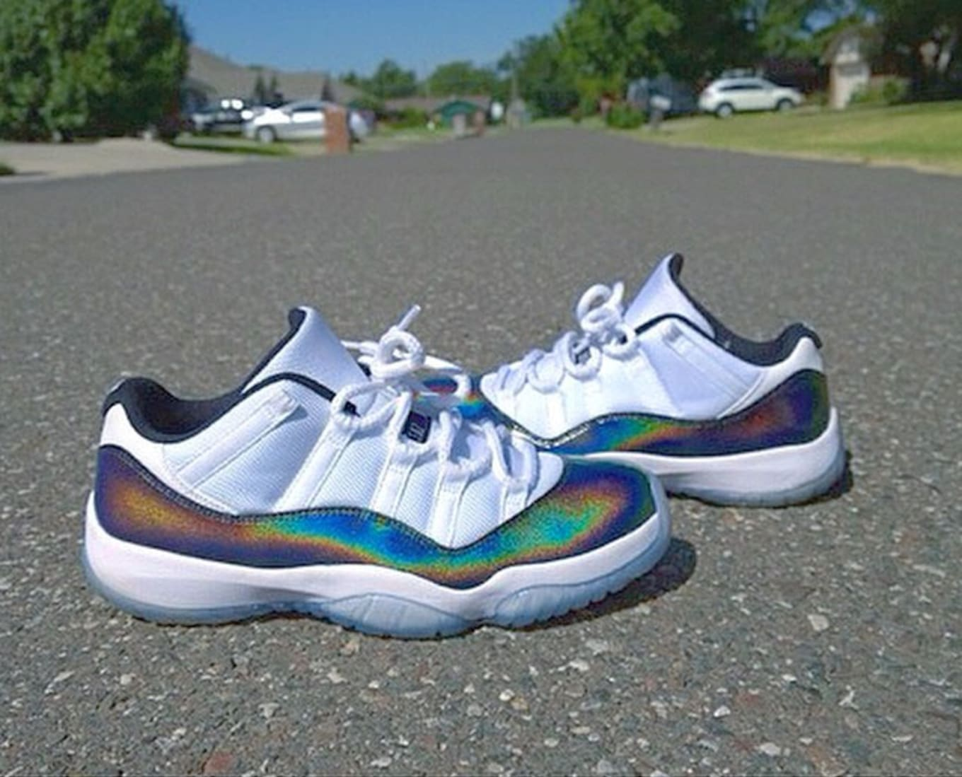 a4a7664e55d5 Air Jordan XI 11 Low Hologram Custom by Jo Square