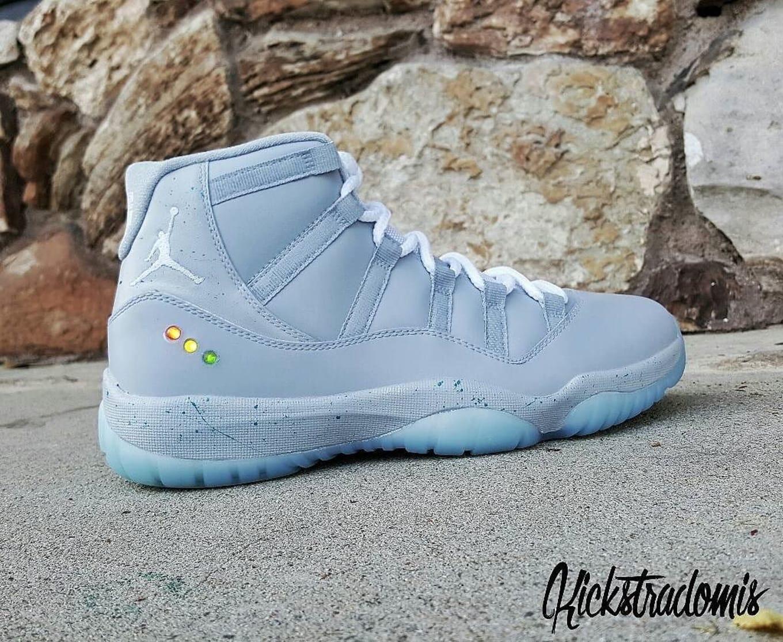 ec2a608f392 Air Jordan XI 11 Nike Mag Custom by Kickstradomis