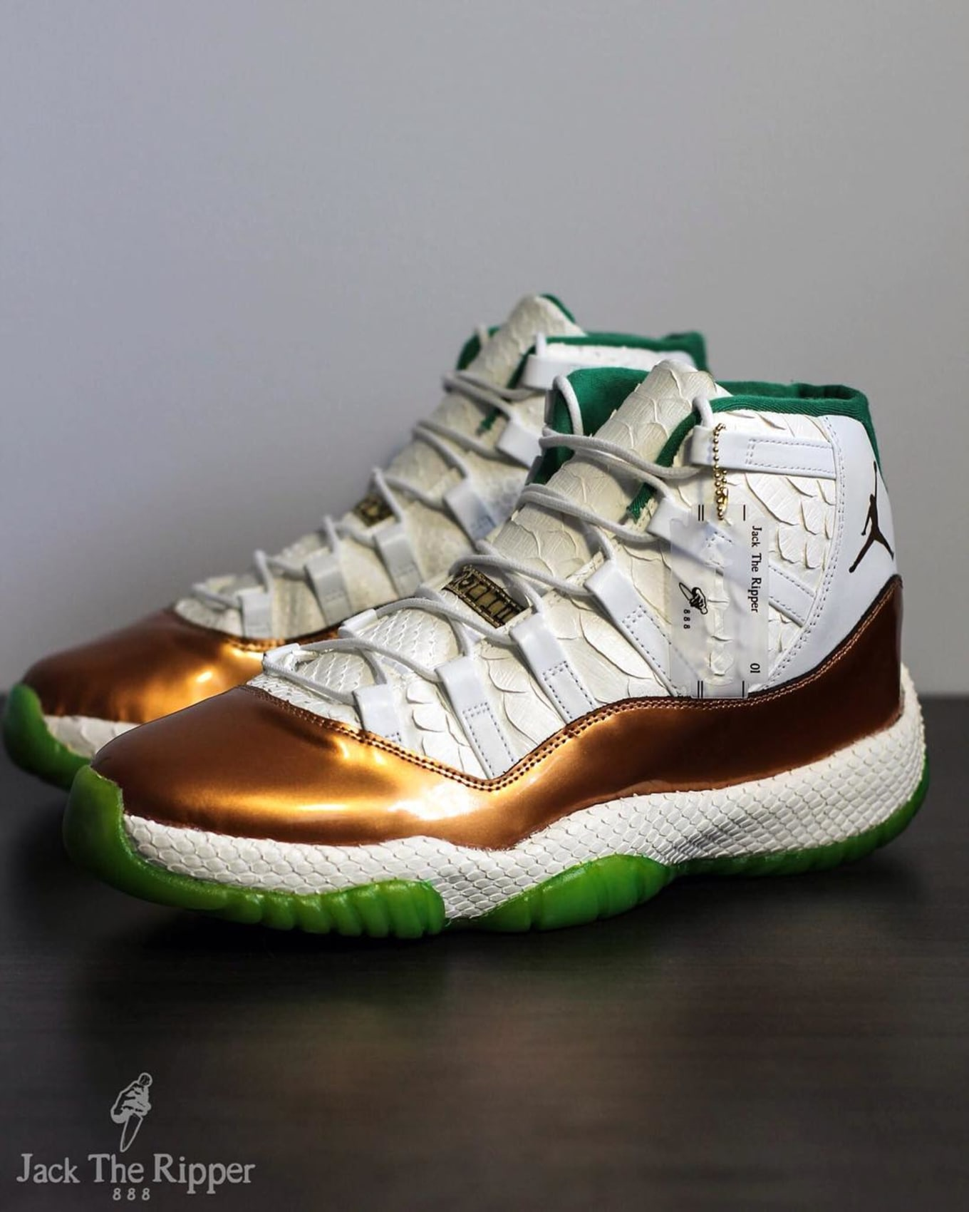 942d84f51d61 Air Jordan XI 11 Ray Allen Custom by Jack the Ripper
