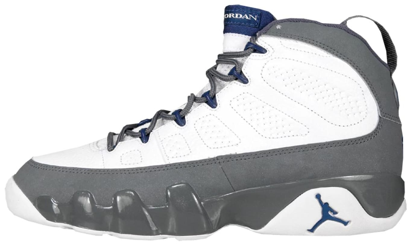 540b398cb6a8 Air Jordan 9 (IX). Style Code  302370-141. Colorway  White French Blue-Flint  Grey