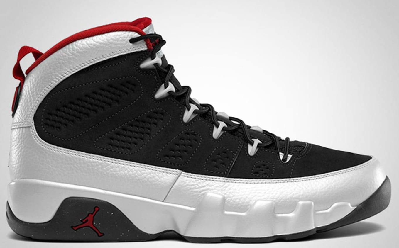 buy popular e3ec7 3bfb2 Air Jordan 9 (IX). Style Code  302370-012. Colorway  Black Gym Red-Metallic  Platinum