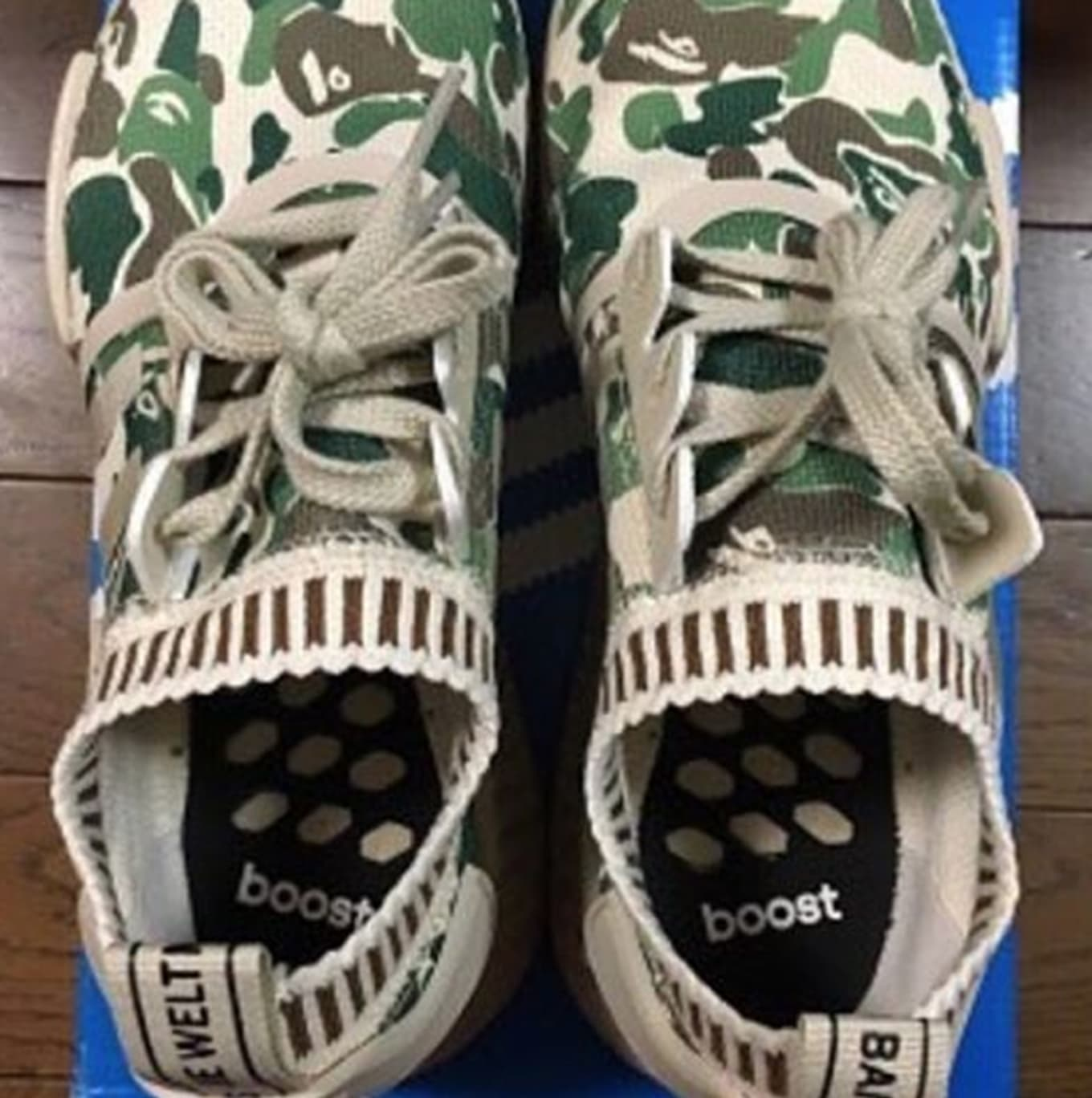 c402f006fb715 adidas NMD R1. Images via solestreetsneakerco. Images have leaked of a  supposed Bape x adidas NMD collaboration featuring the ...